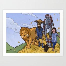 The Wonderful Wizard of Oz Art Print