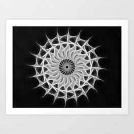 Gray Kaleidoscope Art 30 Art Print