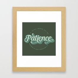 """""""Patience"""" Bible Verse Framed Art Print"""