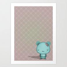 kawaii Bear Art Print