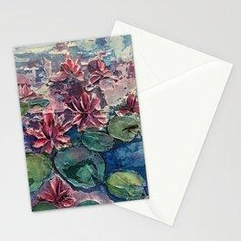 lotus pond Stationery Cards