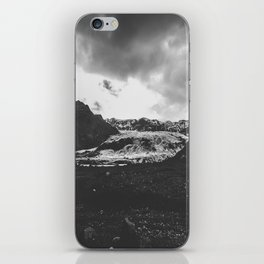 Ice giant - black and white landscape photography iPhone Skin