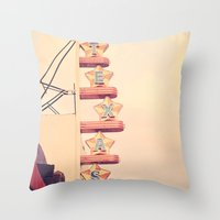 theatre Throw Pillows featuring Texas Theatre by maybesparrowphotography