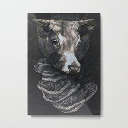 Cow Meat Metal Print