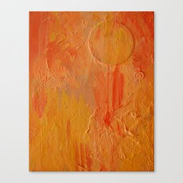 Orange Abstract Painting Canvas Print