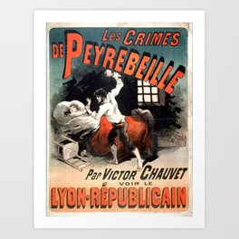 Vintage poster - Les Crimes de Peyrebeille Art Print