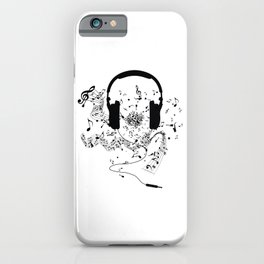Headphones and Music Notes iPhone Case