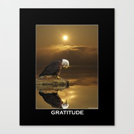 Gratitude - Bald Eagle At Prayer Canvas Print