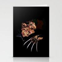 freddy krueger Stationery Cards featuring Freddy by iankingart