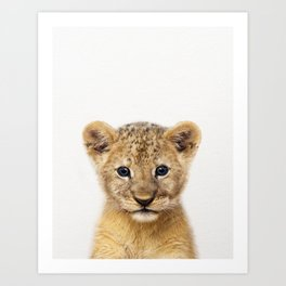 Baby Lion, Baby Animals Art Print By Synplus Art Print