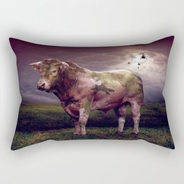 100% Pure Beef Military Cow From Fonebook Rectangular Pillow