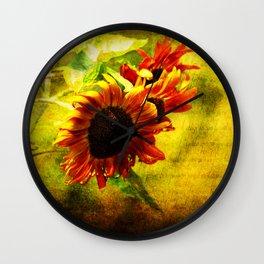 Sunflowers Lament Wall Clock