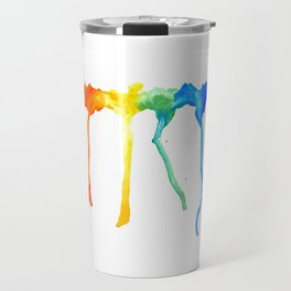 Rainbow Splatters Travel Mug