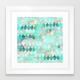 SUMMER MERMAID Framed Art Print