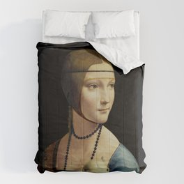 Leonardo da Vinci - The Lady with an Ermine Comforters