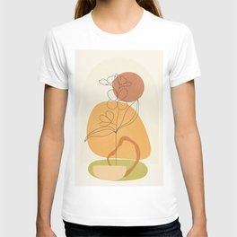 Minimal Abstract Flowers 03 T-shirt