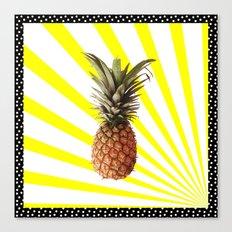 Ananas pop Canvas Print