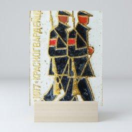 Russian Soldiers 1917 Russian Lapel Pin Mini Art Print