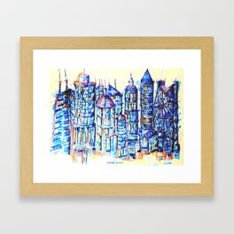 Abstract City In The Summer Of That Year Framed Art Print