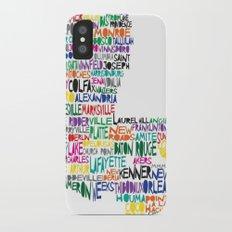 Louisiana Typography Slim Case iPhone X