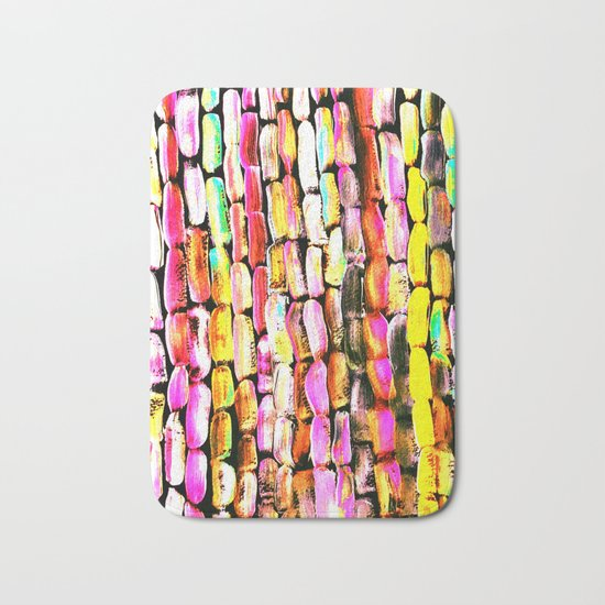Orange Sugarcane Bath Mat