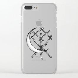 Crescent Moon Rune Binding Clear iPhone Case