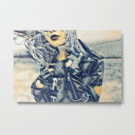 Punk Rocker Metal Print