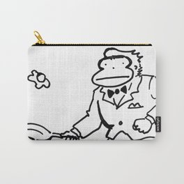Sharp-Dressed Ape Fries an Egg Carry-All Pouch