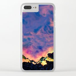 The World On Fire Clear iPhone Case
