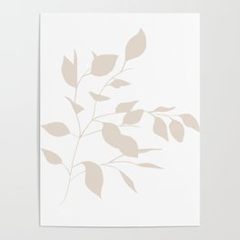 Buff Leaves Poster