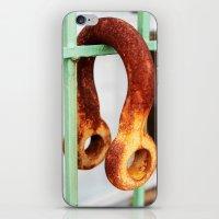 headphones iPhone & iPod Skins featuring Steel Headphones  by Sandiest Photography