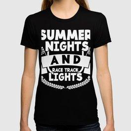 Summer Nights And Race Track Lights T-Shirt T-shirt