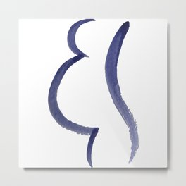 Purple Mama Outline Painting Metal Print