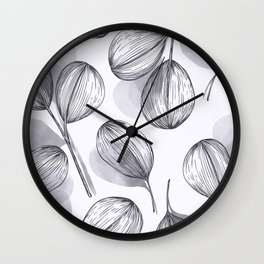 Round Leaves 5 Wall Clock