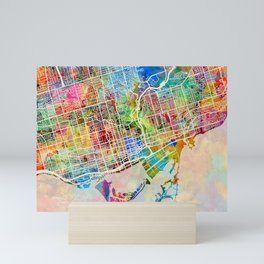 Toronto Street Map Mini Art Print