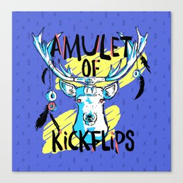 Amulet of Kickflips Canvas Print