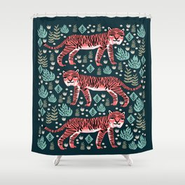Safari Tiger by Andrea Lauren  Shower Curtain