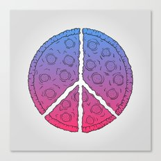 Peace & Pizza Canvas Print