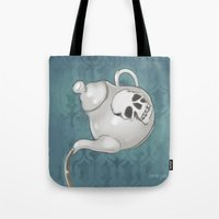 enerjax Tote Bags featuring Johnlock Teatime by enerjax