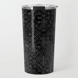 Black and White Overlap 1 Travel Mug