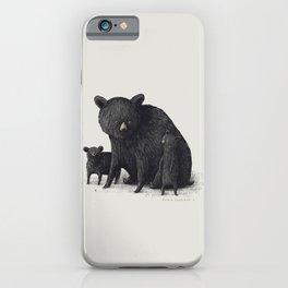 Black Bear Family iPhone Case