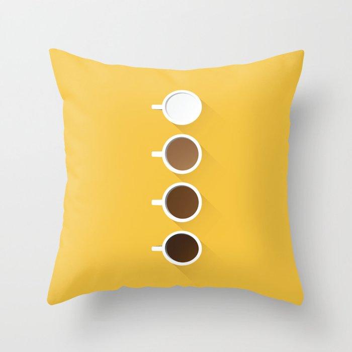 Coffee + Simplicity Throw Pillow