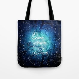 Once Upon A Time ~ Winter Snow Fairytale Forest Tote Bag