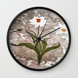 Narcissus On Marble Wall Clock