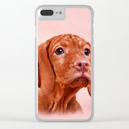 Vizsla puppy- Hungarian pointer Clear iPhone Case