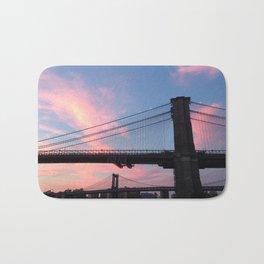 Brooklyn & Manhattan Bridges New York City Bath Mat