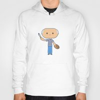 pablo picasso Hoodies featuring Pablo Picasso by Sombras Blancas Art & Design