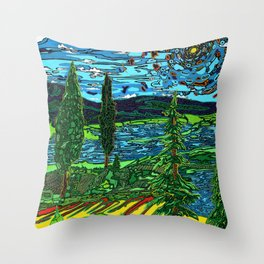 Perception of a Landscape Throw Pillow