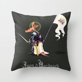 Joan D'Aardvark Throw Pillow