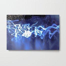 Electric Fuse in Blue Metal Print
